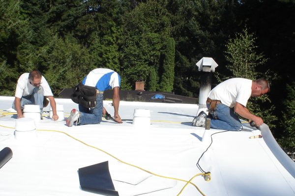 PVC Membrane Roofing Installation